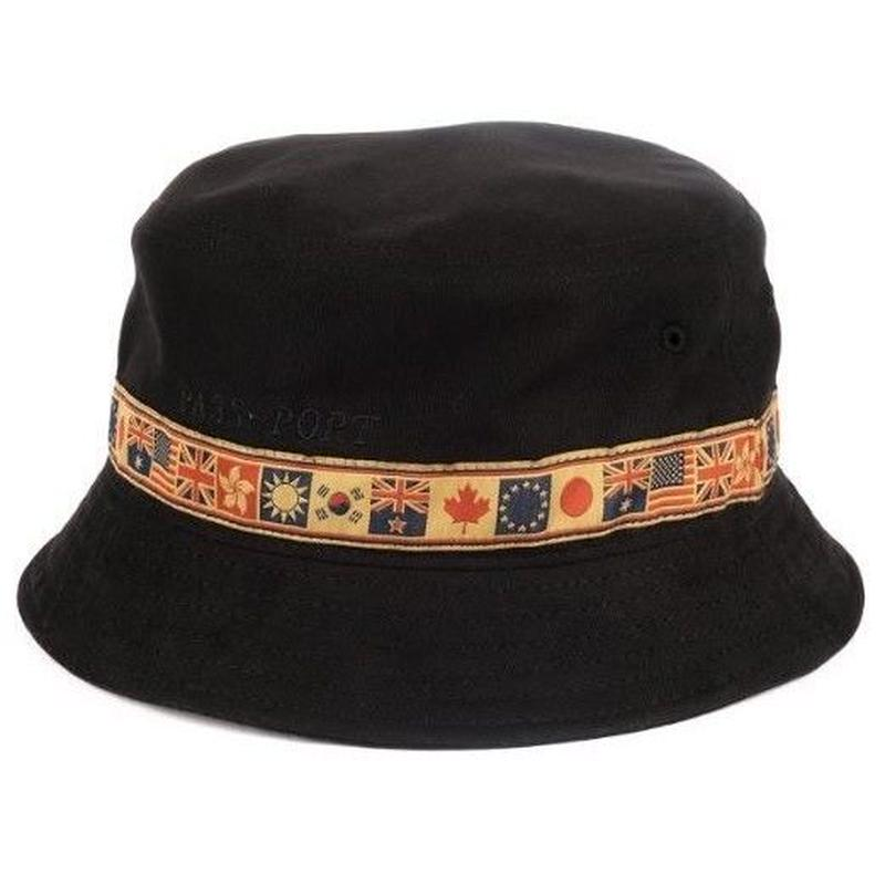 PASS~PORT INTER SOLID BUCKET HAT BLACK