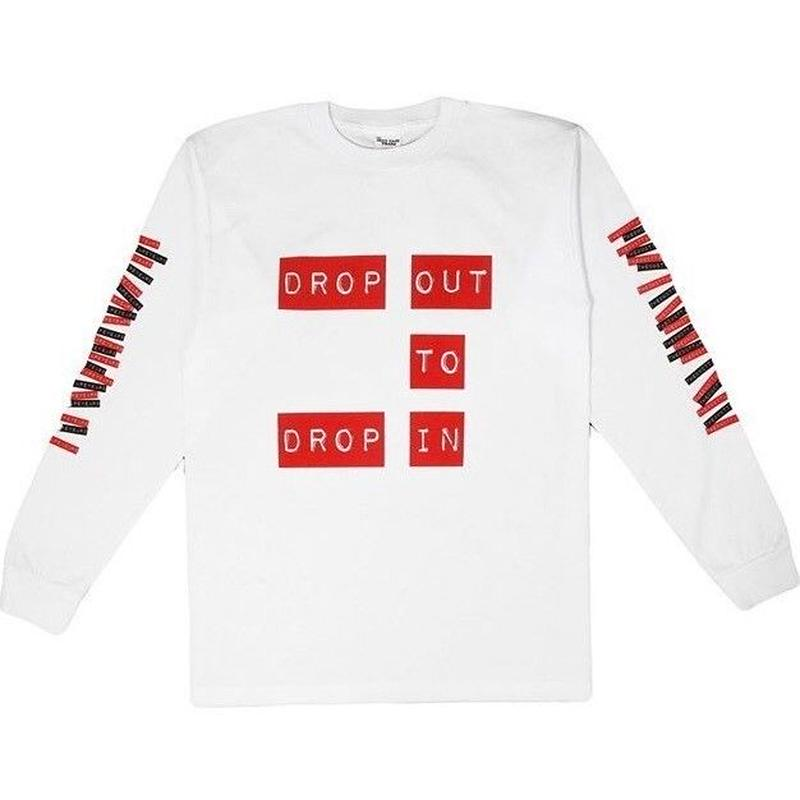 THE DUCT TAPE YEARS DROP OUT TO DROP IN LS TEE WHITE