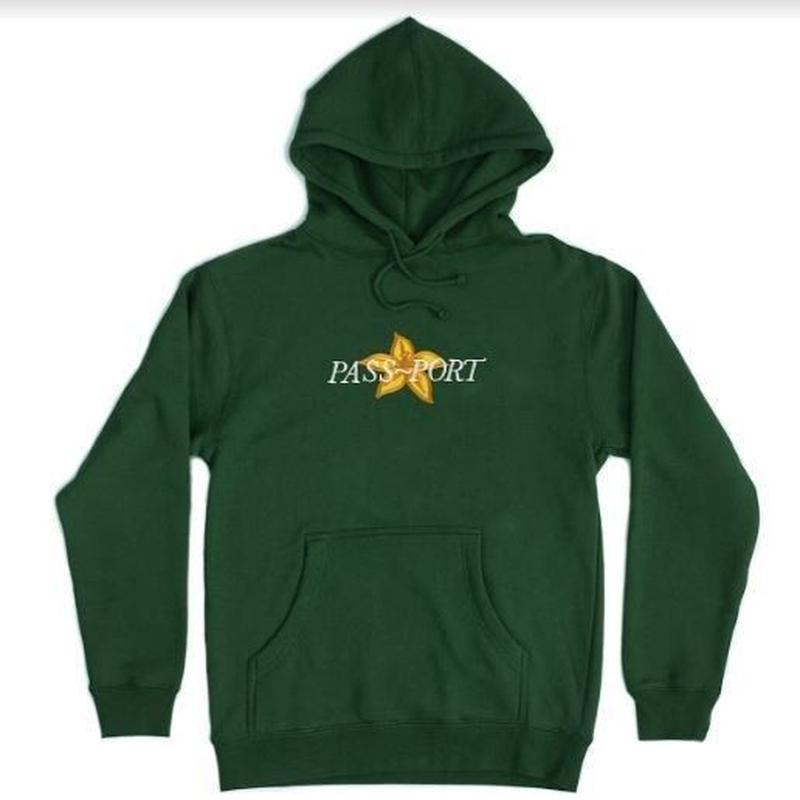 PASS~PORT DAFFODIL APPLIQUE HOOD FOREST GREEN