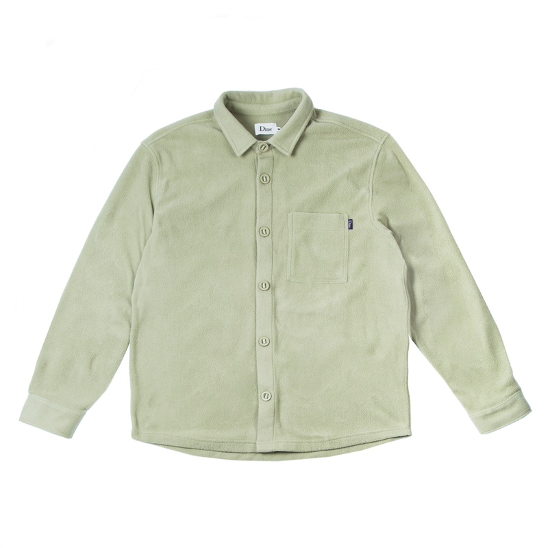 DIME FLEECE BUTTON-UP SHIRTS GREEN