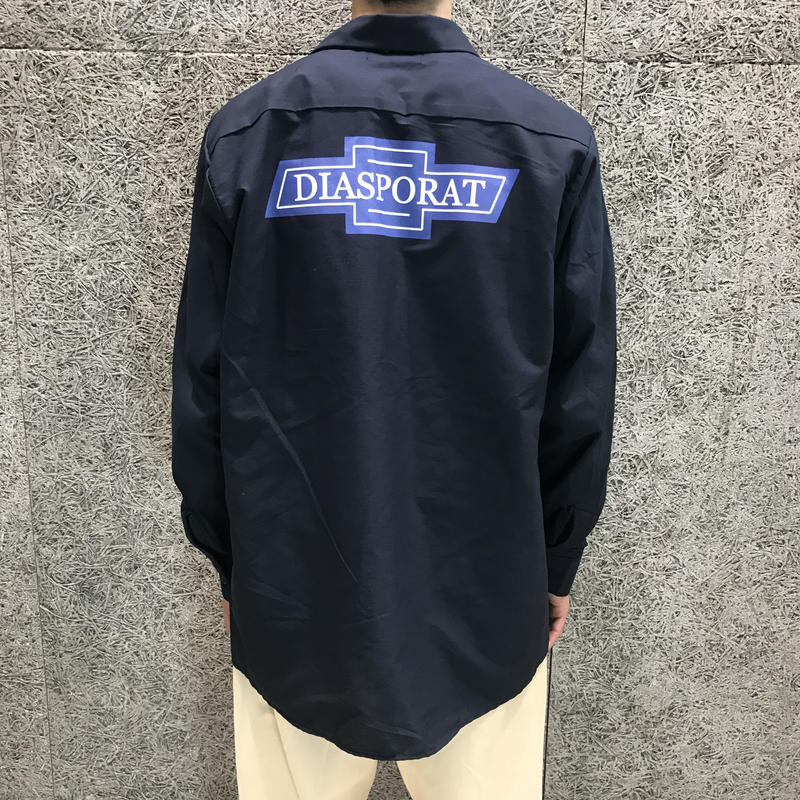 DIASPORA SKATEBOARDS  CHEVY LS WORK SHIRT NAVY