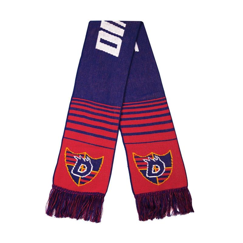 DIME SCARF BLUE / RED
