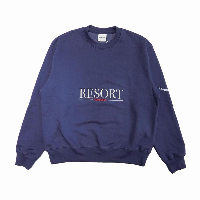 RESORT CORPS EQUIPMENT CREW NECK SWEATER BLUE