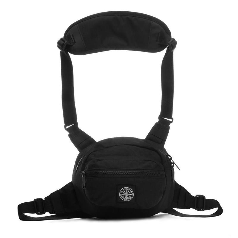 STONE ISLAND BODY BAG  BLACK  701590771