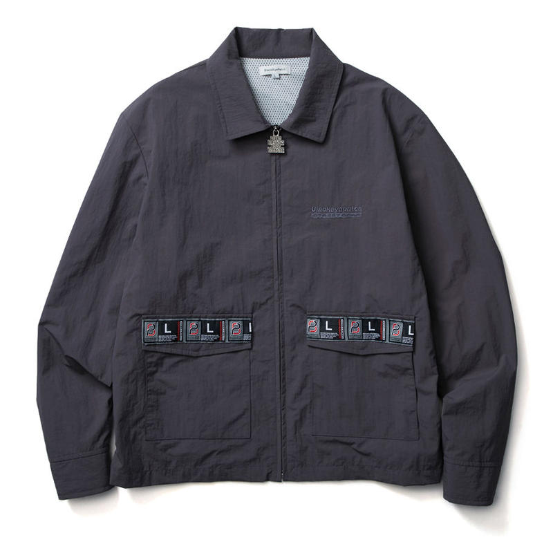 BLACK EYE PATCH TAPED BLOUSON GREY