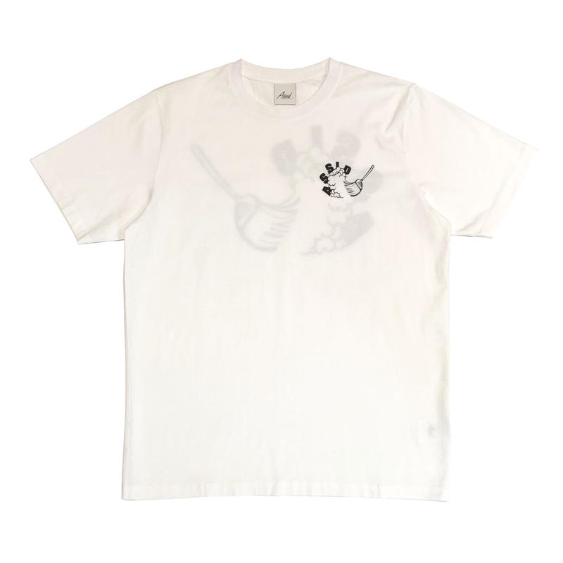 ASSID IS RUBBISH SHORTSLEEVE TEE WHITE