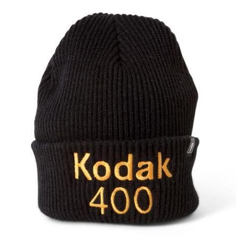 GIRL SKATEBOARDS X KODAK 400 CUFF BEANIE BLACK