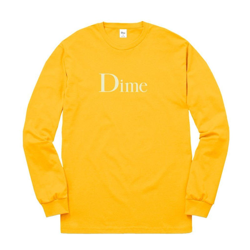 DIME CLASSIC LOGO LSTEE GOLD
