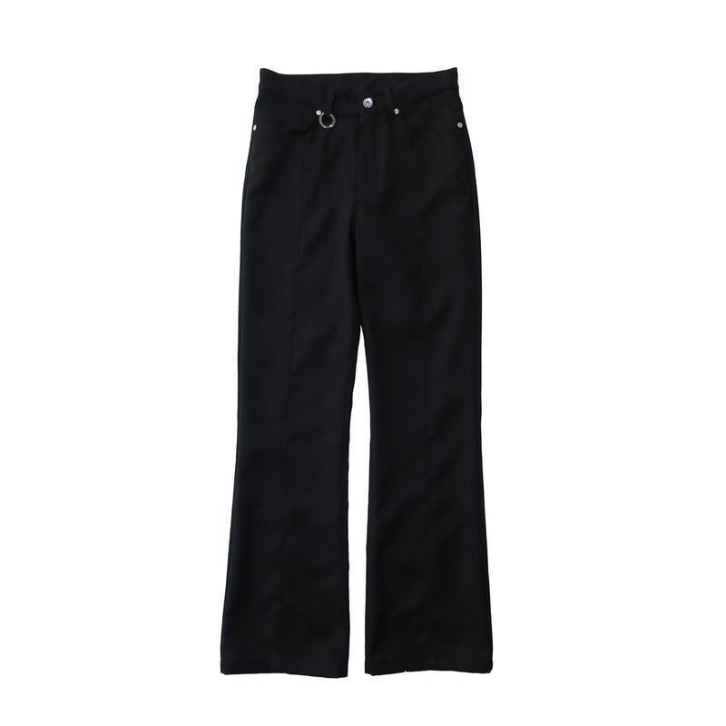 2 PANEL BOOT CUT PANTS  / BLACK