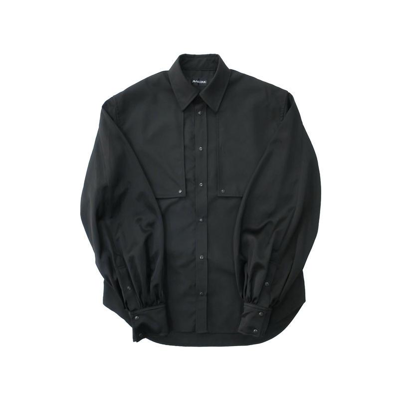 BALLOON SLEEVE SHIRT  /  BLACK×BLACK