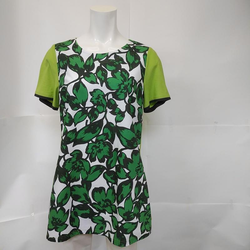 リーフプリントチュニックTシャツ