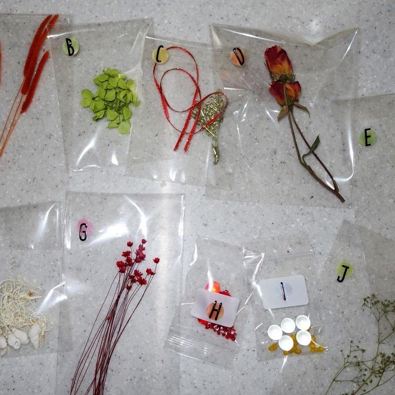 ハーバリウム花材(3種類)A~J から3つお選びください。