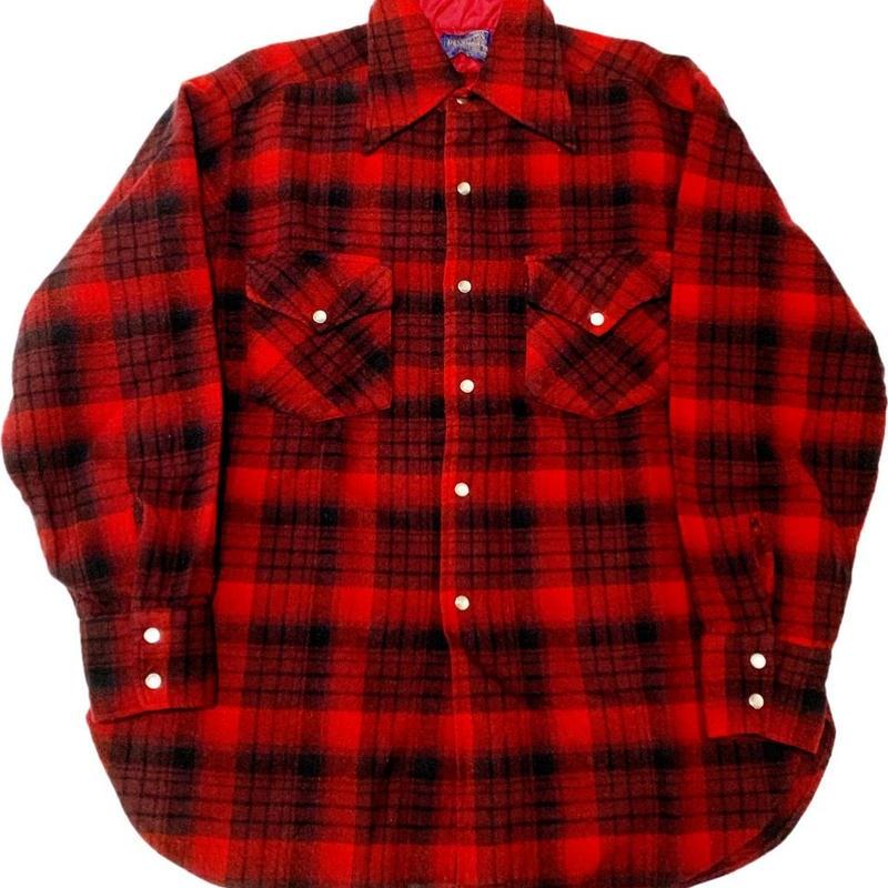 70'S PENDLETON Western shirt  ペンドルトンウールシャツ