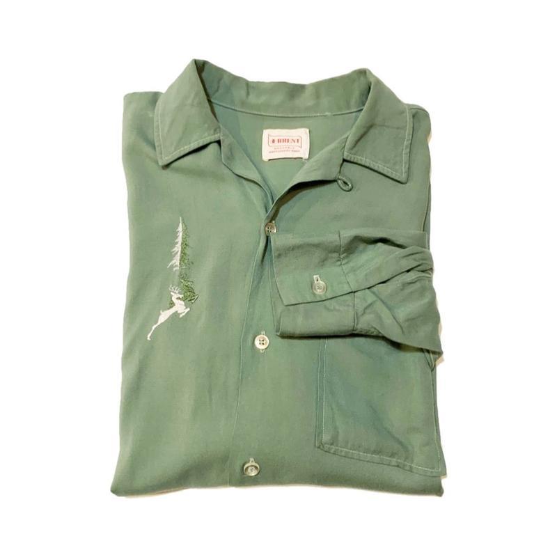 60's BRENT Open collar shirt ブレント
