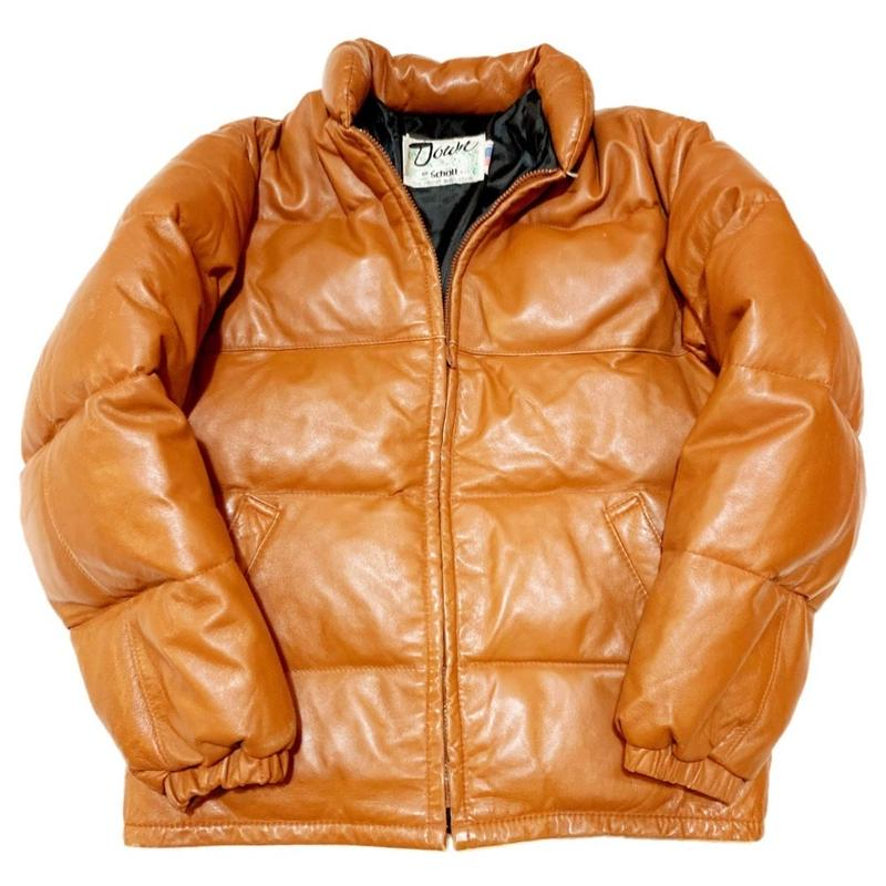 schott Leather down jacket MADE IN USAレザーダウン