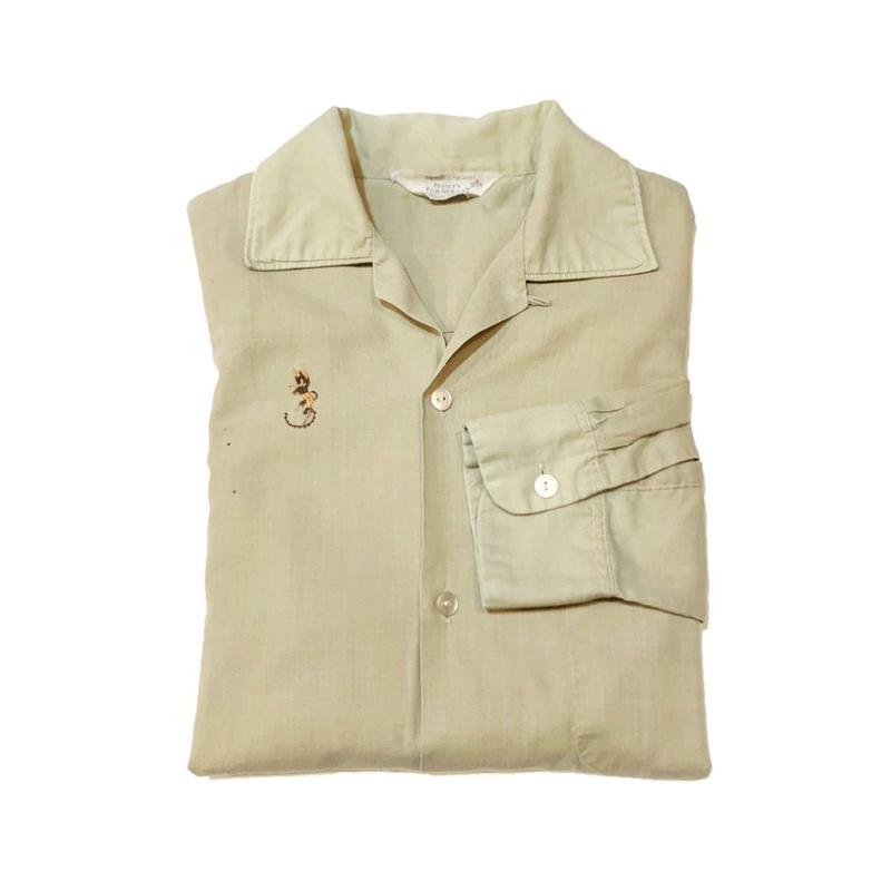 60'S TOWNCRAFT  Open collar shirtタウンクラフト