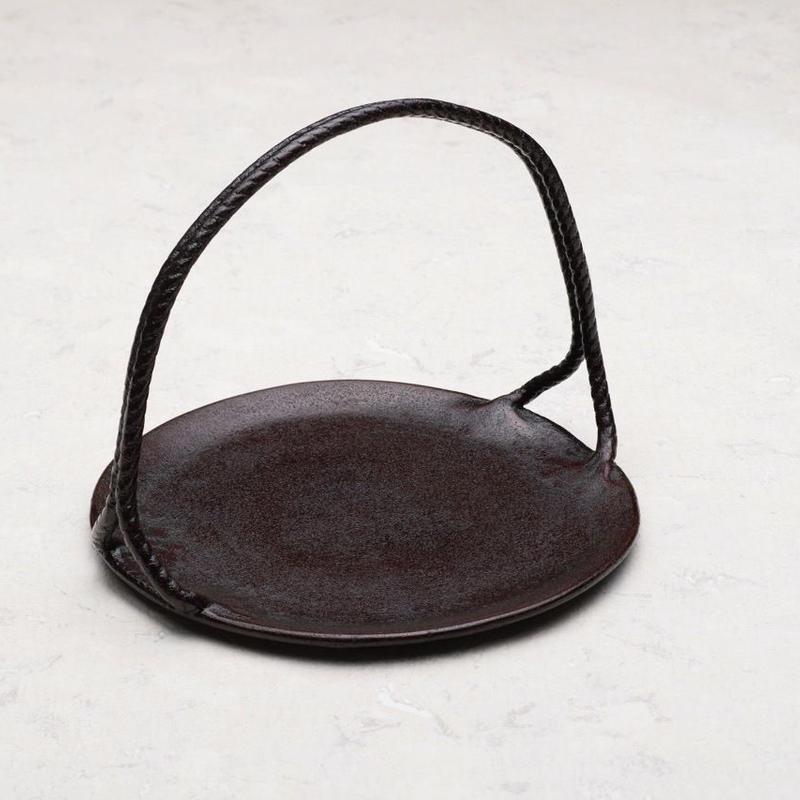 縄文手付皿 7寸 (φ210mm)