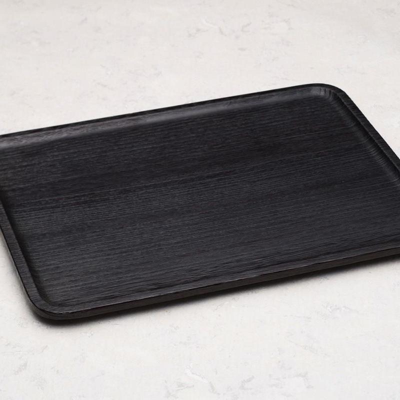 一汁三菜  桐材 セット盆 黒摺