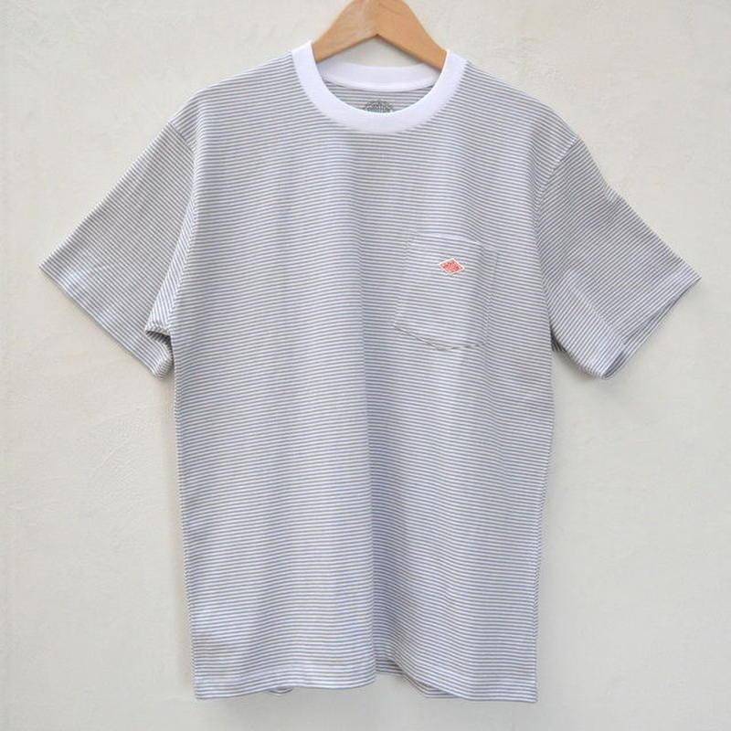 【メンズ】DANTON(ダントン)ポケット付 ボーダー半袖Tシャツ  [JD-9041-MNS]