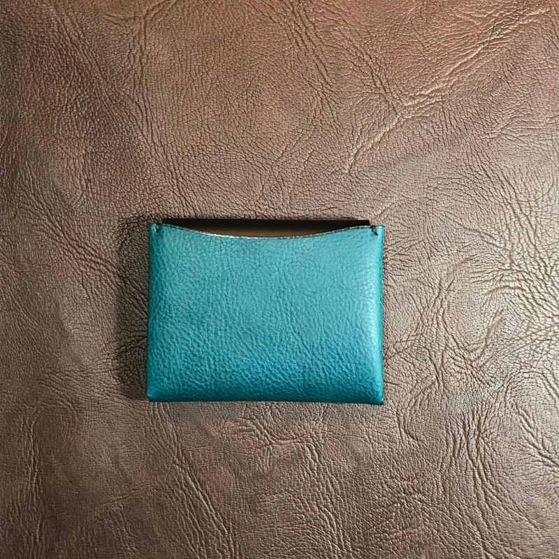 Dew-004 二つ折財布(カードケース)青