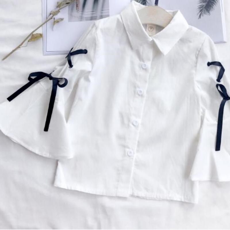 【即納商品】kids リボンシャツ