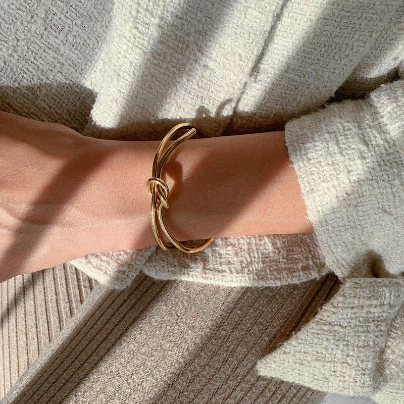 knot asymmetry bangle