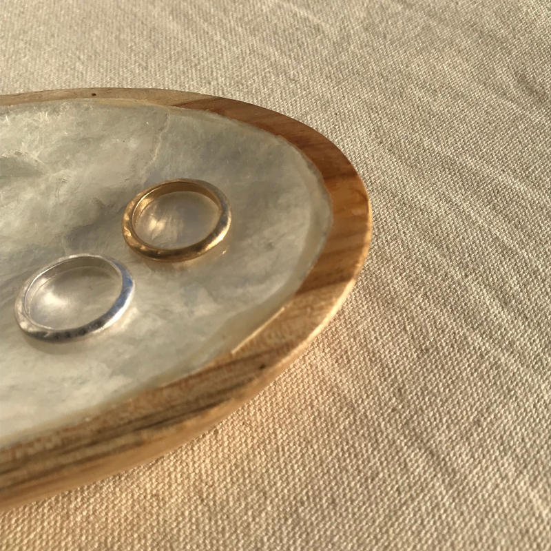 mette disk ring -silver-