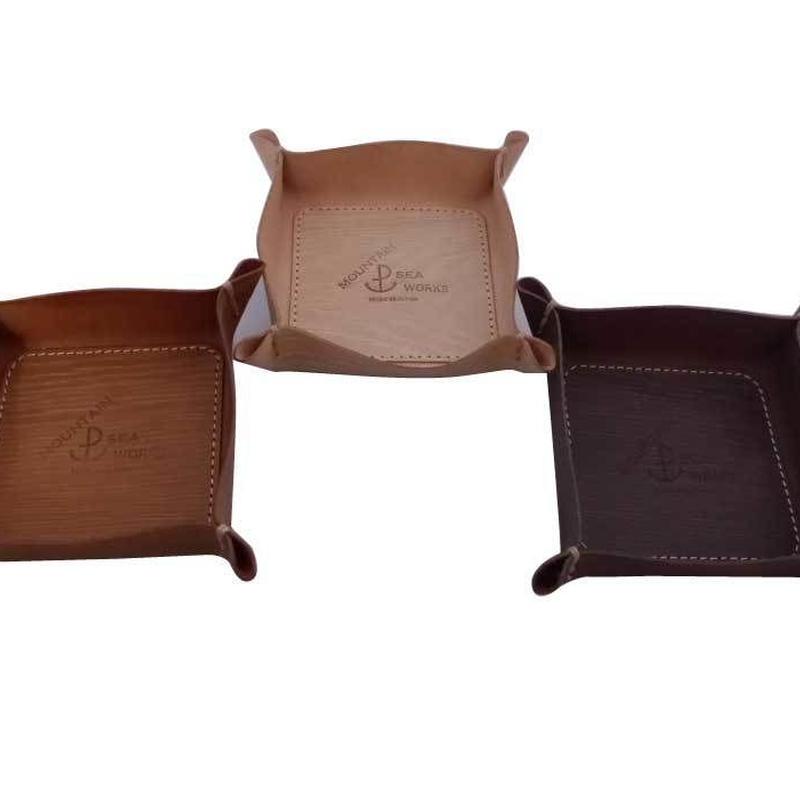 木目調本革トレー S / Wooden Leather Tray S