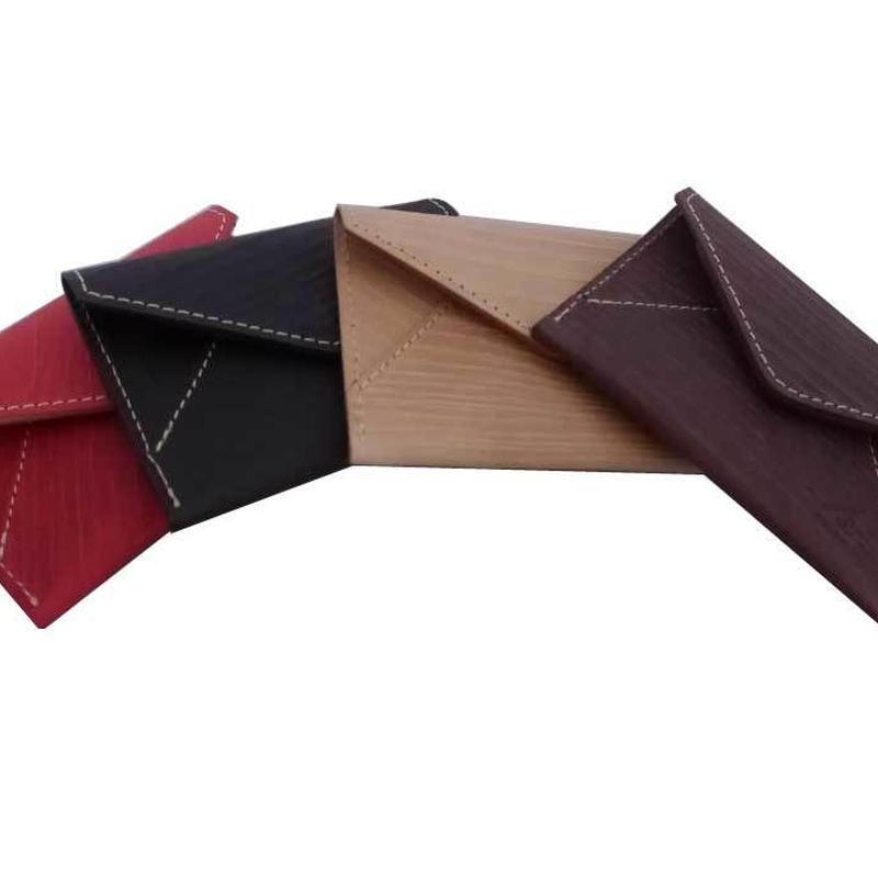 木目調本革カードケース / Wooden Leather Card Case