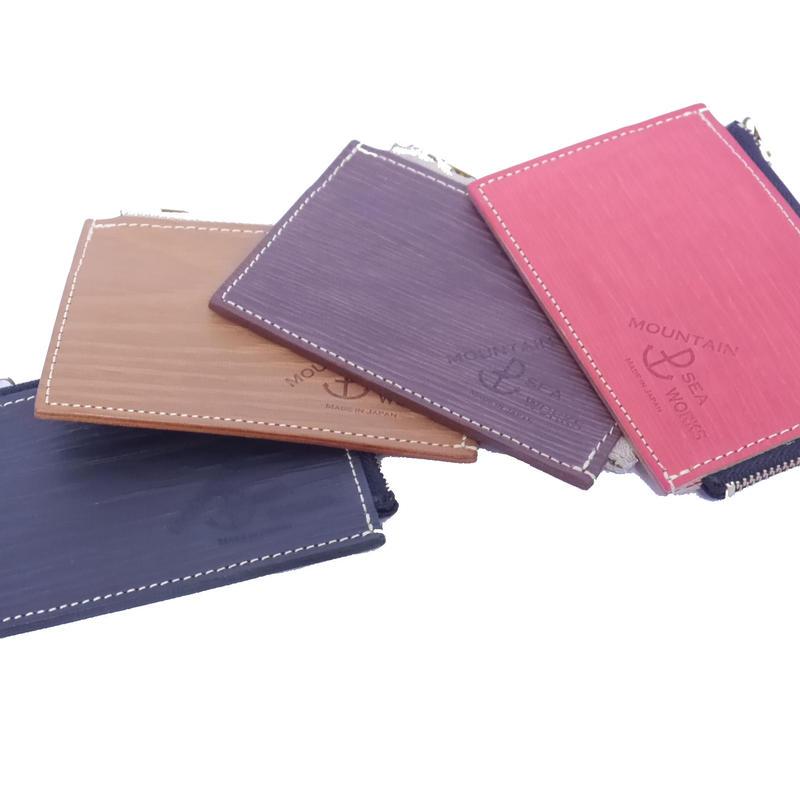 木目調本革 Card & Coin Case / カード、コインケース