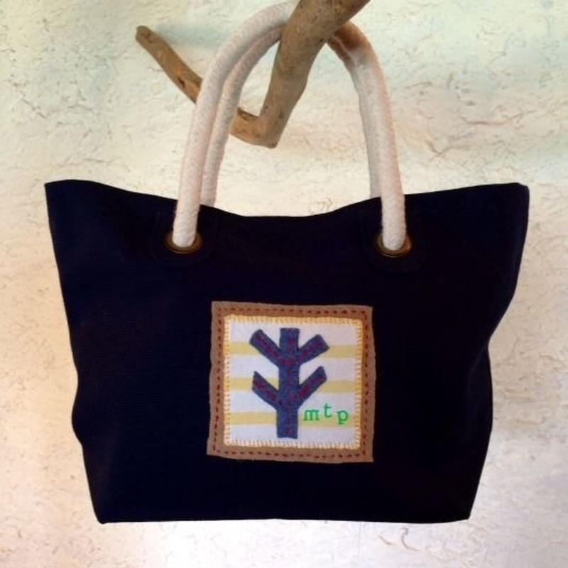 WOOD CRAFT LUNCH BAG(NAVY)