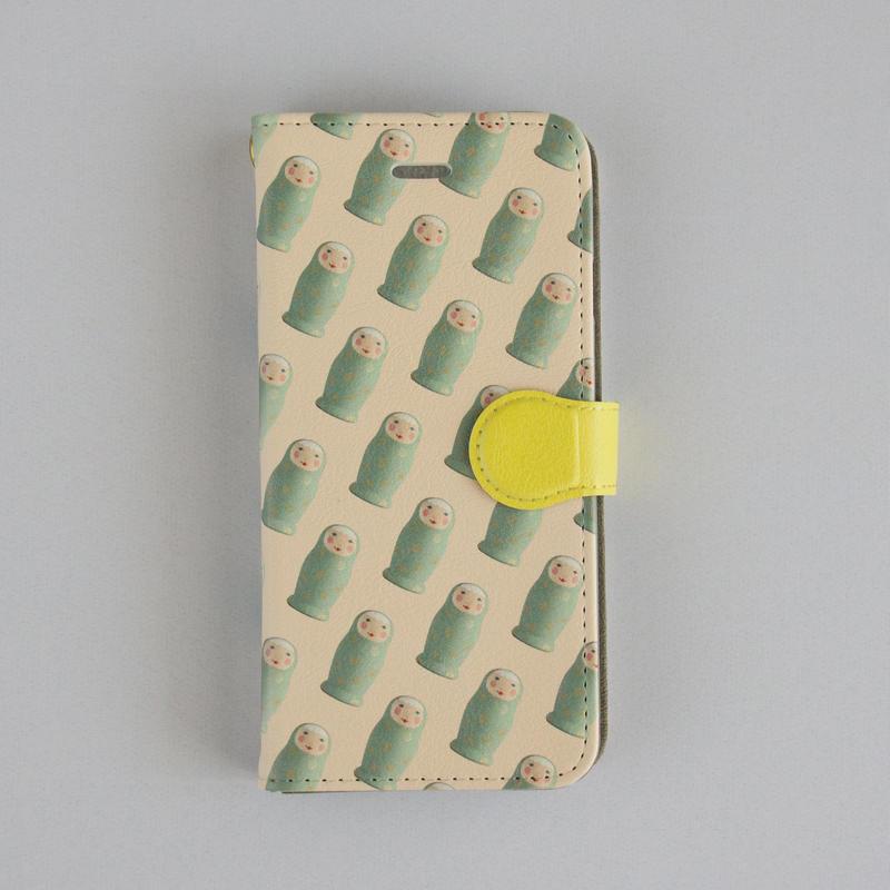 iphone7/8兼用ケース 手帳型  (留め具あり)