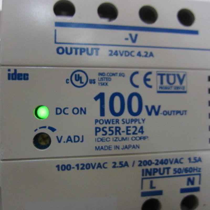 アイデック和泉電気/IDEC  PS5R-E24 (AC-DC24Vスイッチング電源)②★中古品・貴重品★