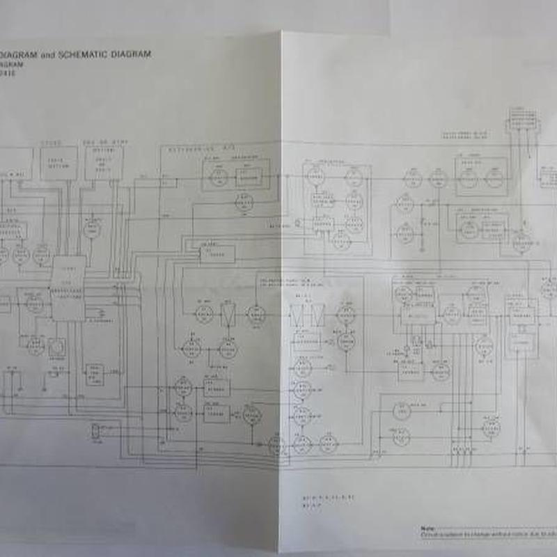 ケンウッドTM-241A/241Eのブロック図 回路図★中古品★