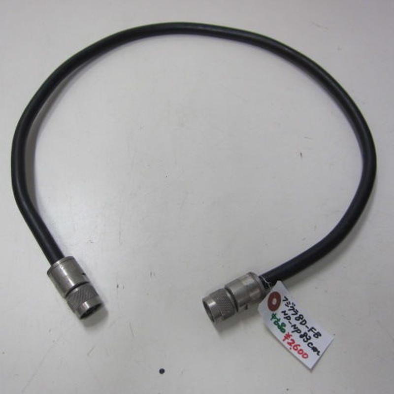 春日電子オリジナル・フジクラ 8D-FB 同軸ケーブル使用 NP-NPコネクター付 83cm ★中古品★