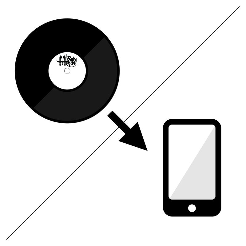 レコード音源→高音質デジタル音源に変換します