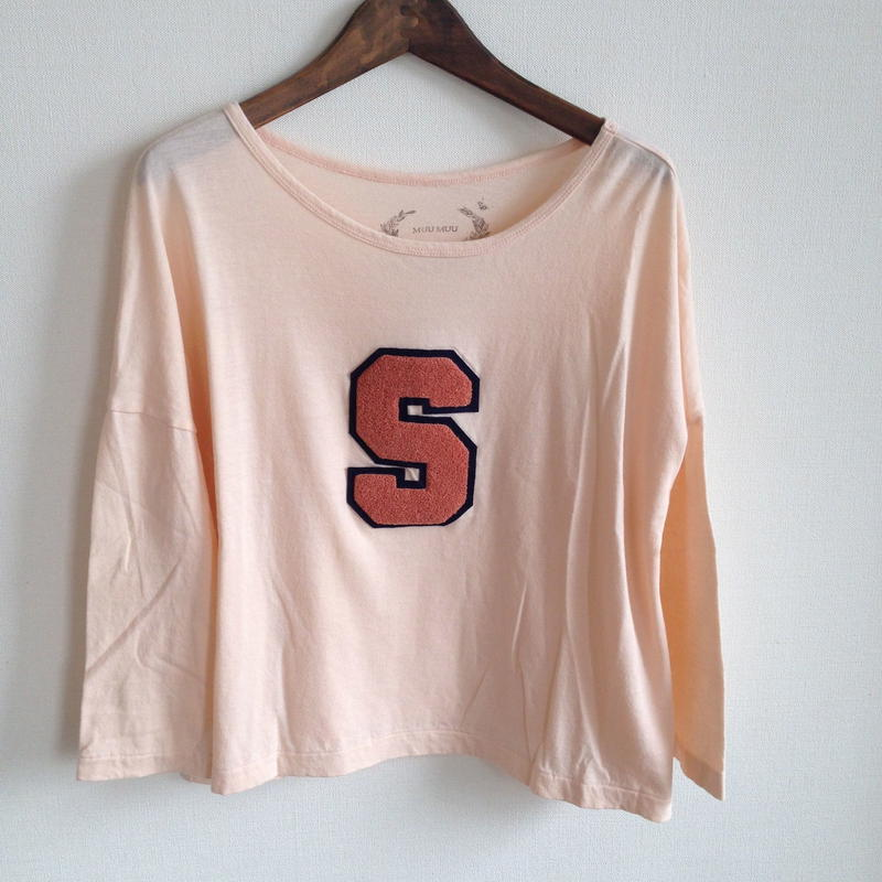 MUU MUU 大人 『S』オーガニックTシャツ