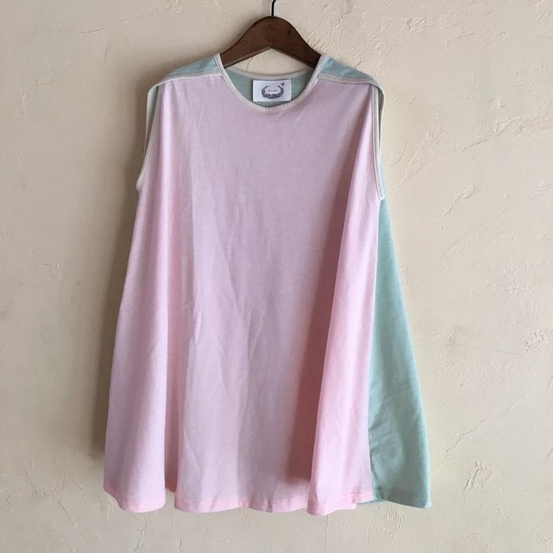 muu muu  mix CUT DRESS / pink mix