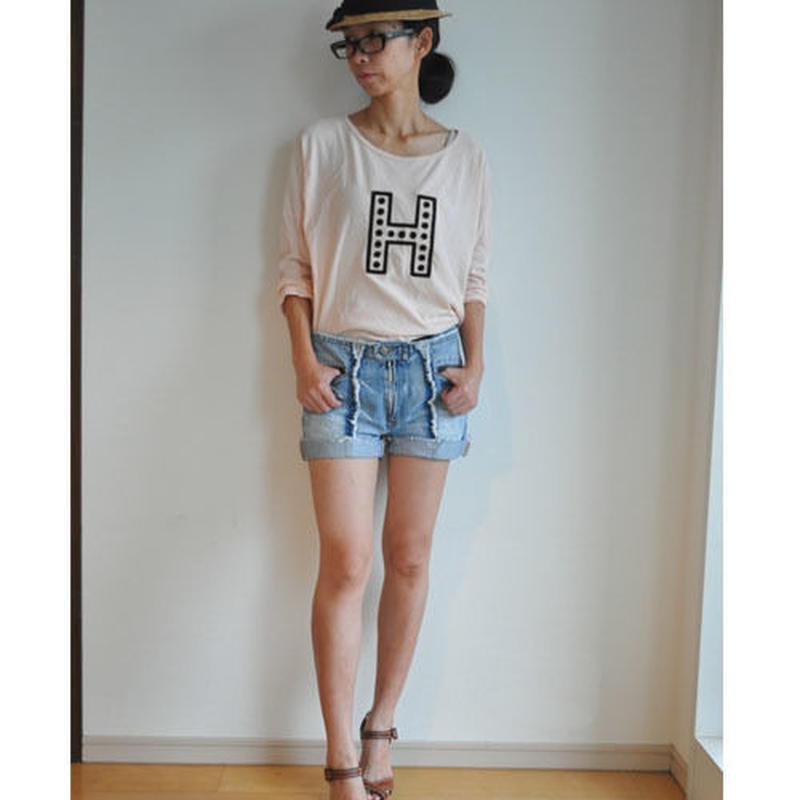 MUU MUU 大人L/S『H』Tシャツ