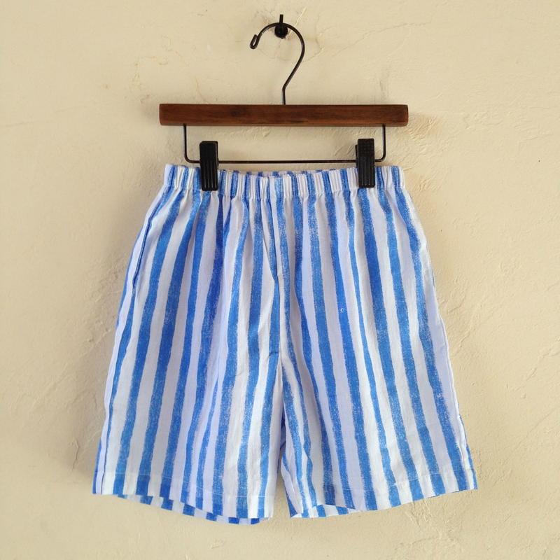 muu muu / STRIPE S/T PANTS  blue