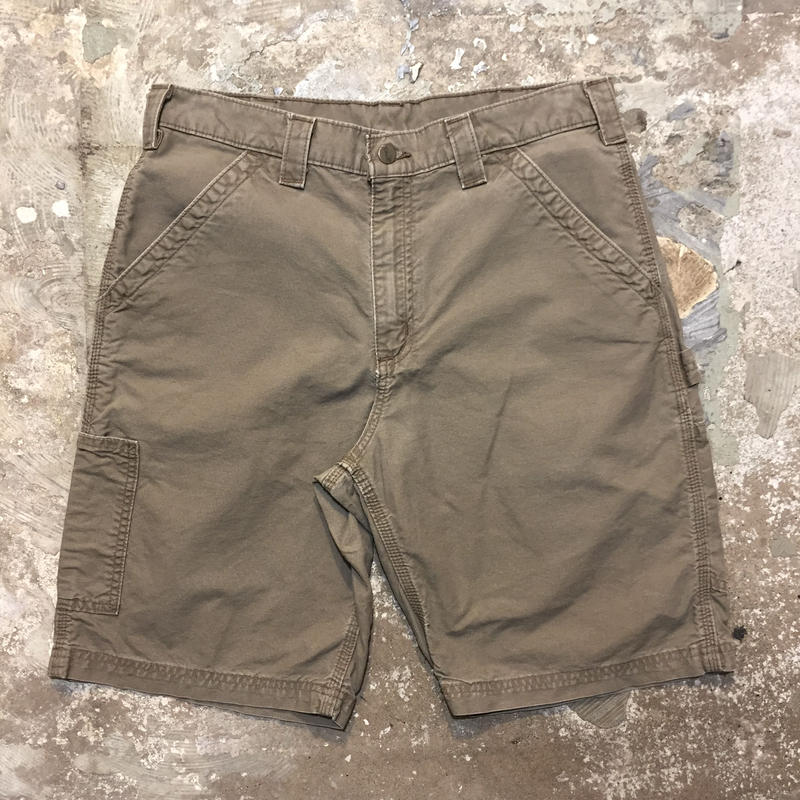 Carhartt Work Shorts BROWN W : 33