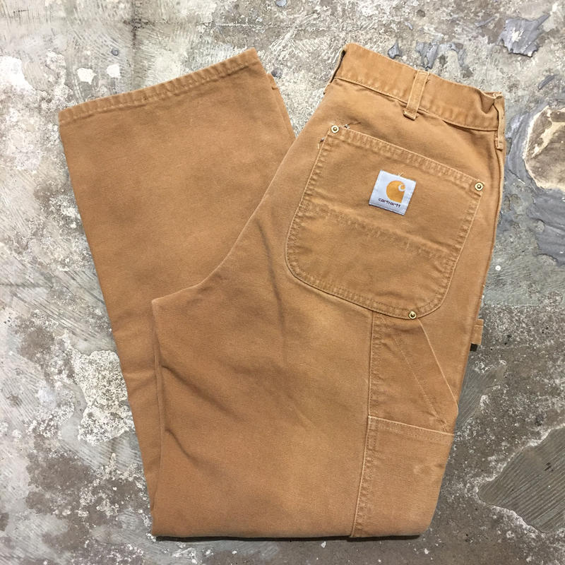 80's~ Carhartt Double Knee Painter Pants BROWN  W : 31
