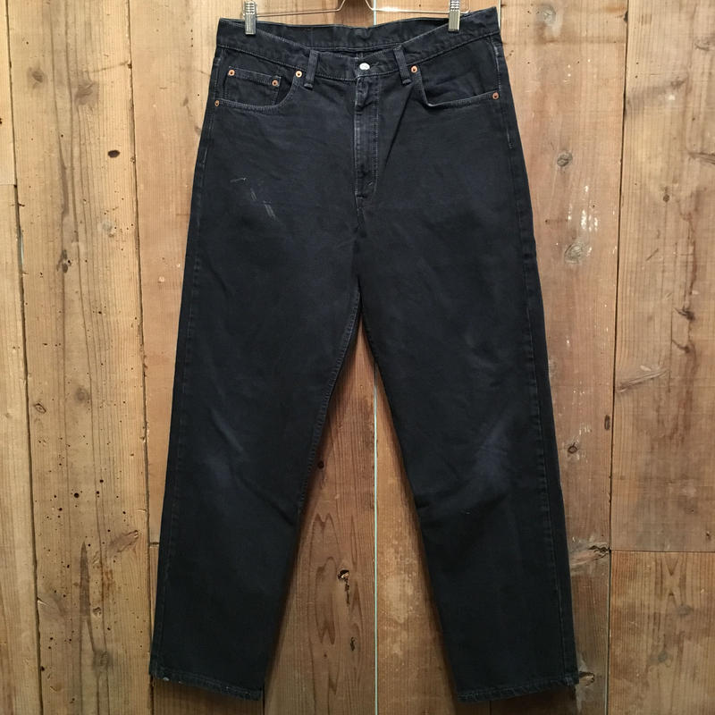 90's Levi's 550 Black Denim Pants  W : 36