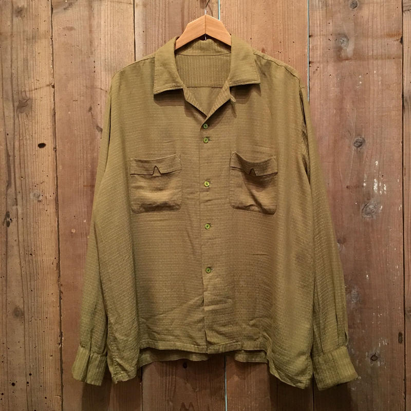 50's Unknown Rayon Open Collar Shirt