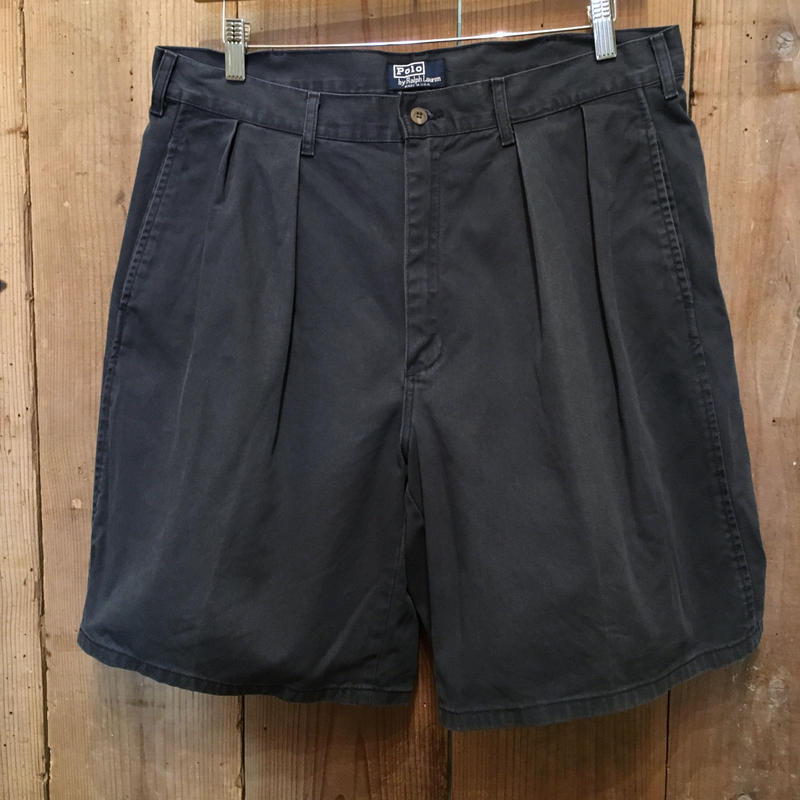 80's~ Polo Ralph Lauren Two Tuck Chino Shorts W : 36