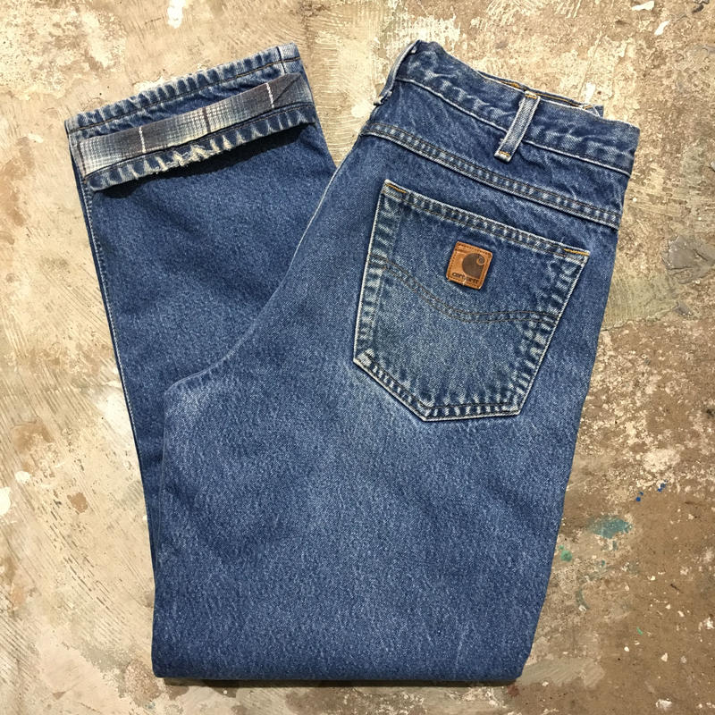 Carhartt Flannel Lined Denim Pants W 32