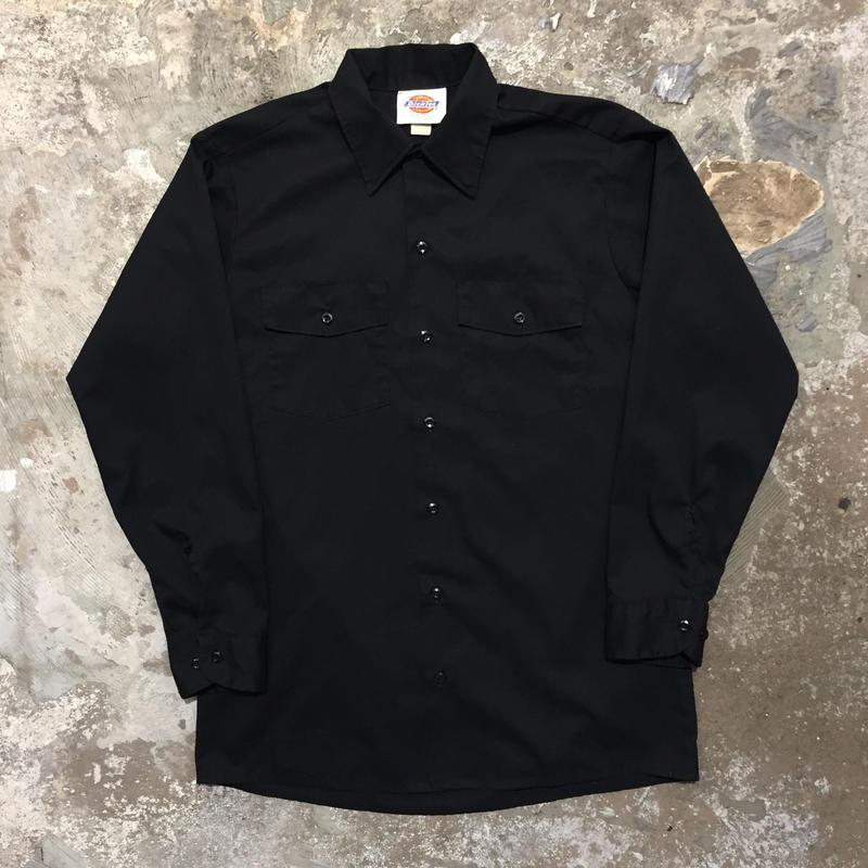 90's Dickies L/S Work Shirt BLACK