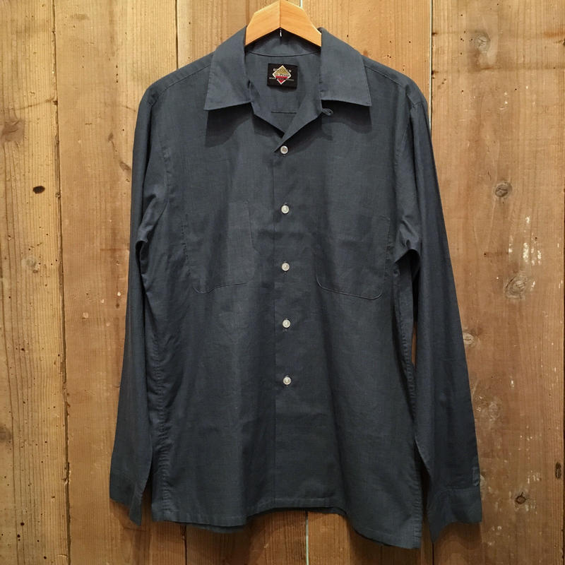 70's BLOCKS Open Collar Shirt