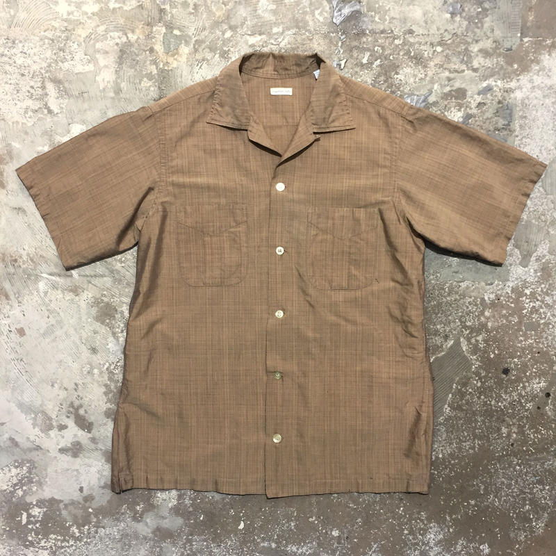 ~60's Unknown Open Collar Shirt