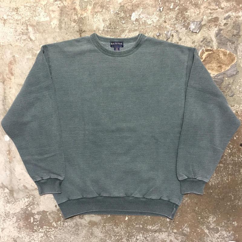90's  NON-FICTION Plain Sweatshirt CHARCOAL